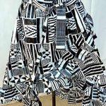 kente black white